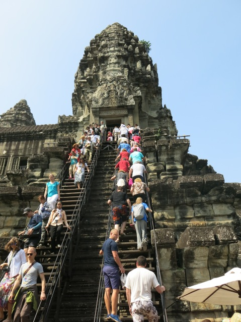 Angkor Watt Crowds